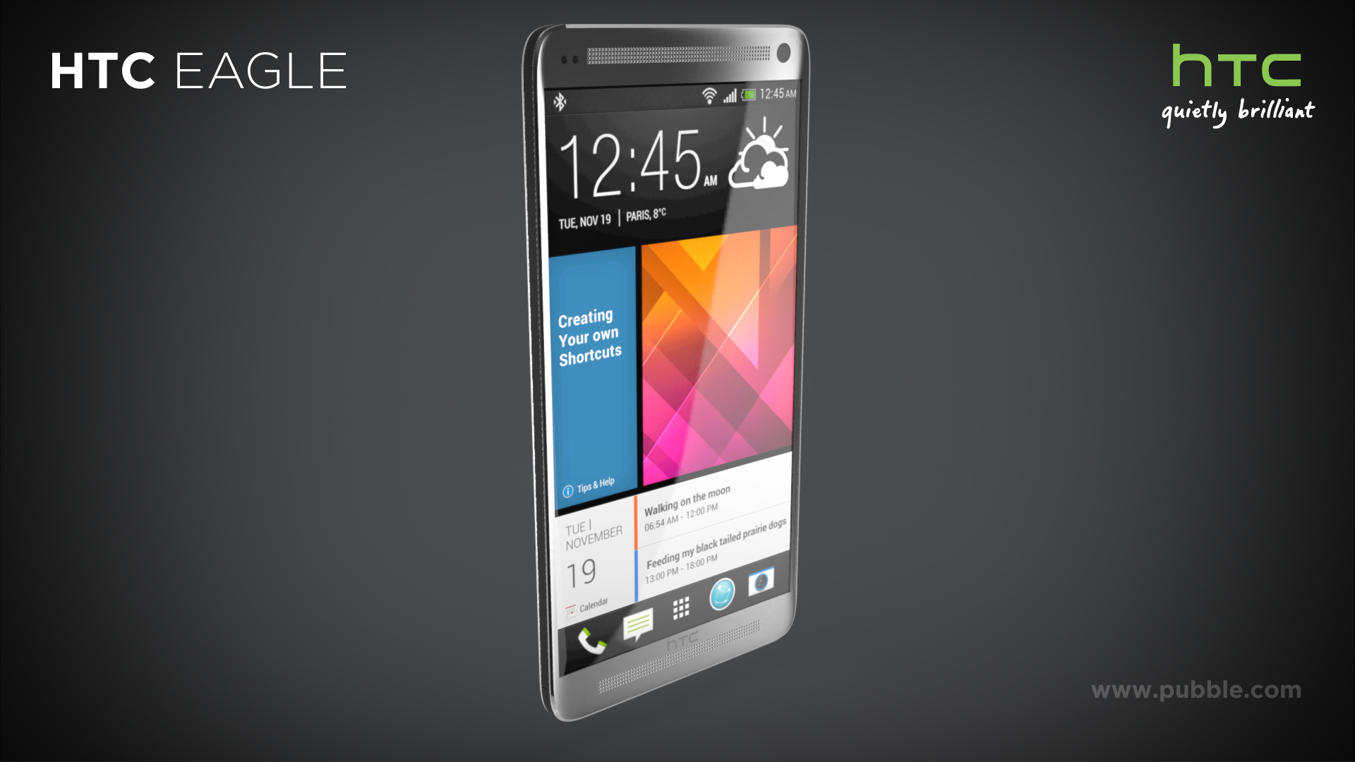 HTC Eagle - Face dynamique